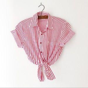 Vintage 90's striped snap button up shirt M/L/XL